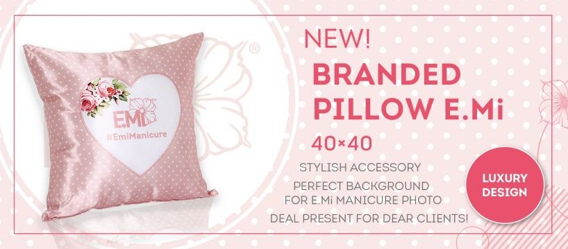 Coming soon! Branded pillow E.Mi