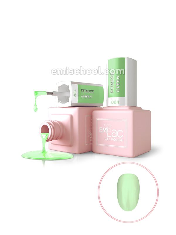 E.MiLac #084 Fitness Green, 9 ml