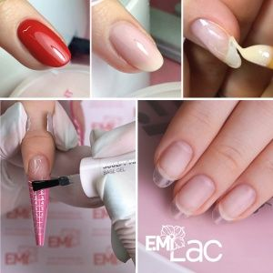 Nail Modeling with gel polish/gel. Natural Nails Strengthening in the technique of COMBI-STYLE